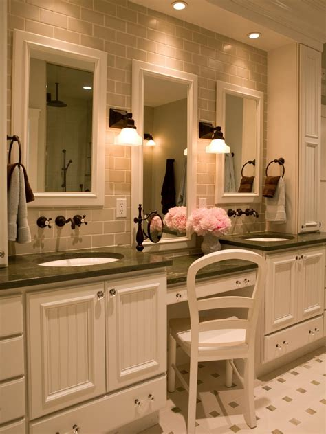 bathroom vanity with her makeup vanity dressing table hgtv