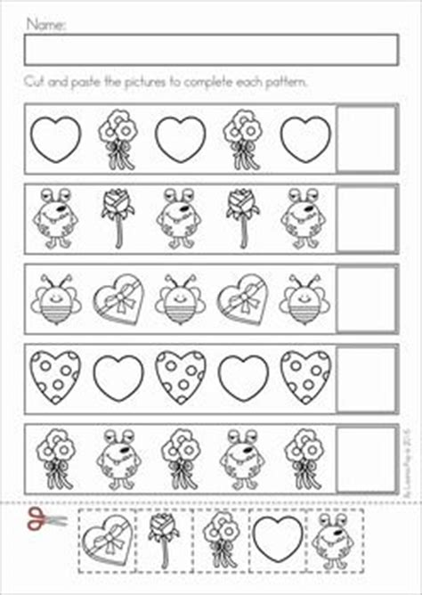 extra pattern practice unit 5 valentine s day patterns literacy and literacy worksheets