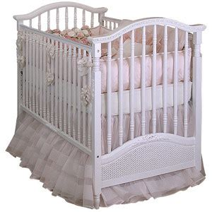 Spindle Baby Crib Spindle Crib With Caning And Applique