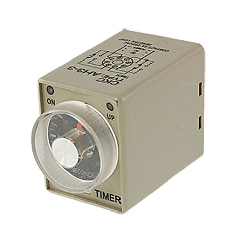 how to set a light timer with pins ac 110v power on delay timer time relay 0 30 second ah3 3