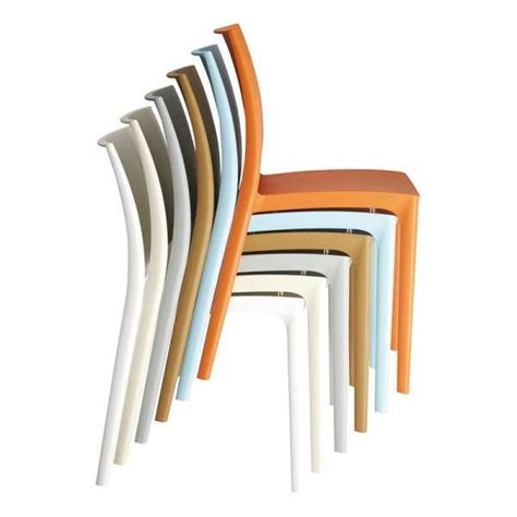 chaises plastique chaise en plastique polypropyl 232 ne 4 pieds