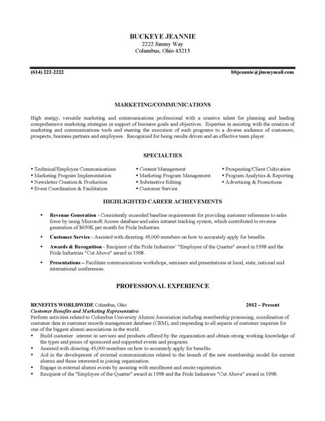 Fresh Letter Format German Templates Design Ohio State Resume Template