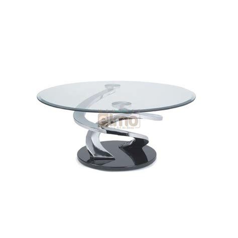 Table Basse Ronde En Acier by Table Basse Design Ronde Verre Et Acier Pied Sculpt 233 Tornade