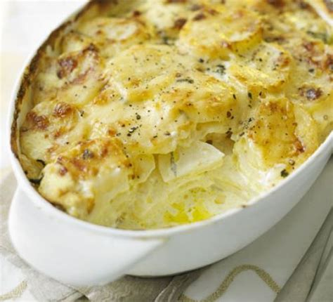 easy cheese onion slice bbc good food creamy cheese potato bake recipe bbc good food