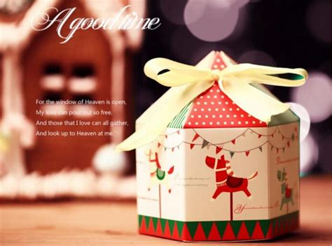 shipping pcs merry   candy box cookie boxes  ribbon hexagon design christmas