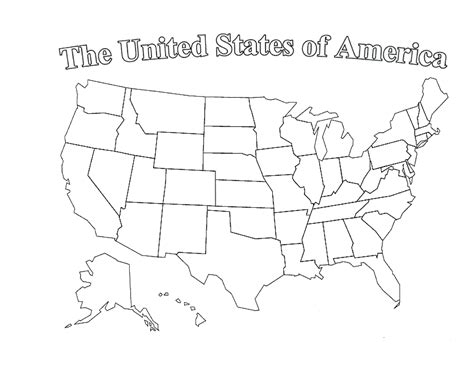 printable usa map for kindergarten printable blank us map with state outlines clipart best