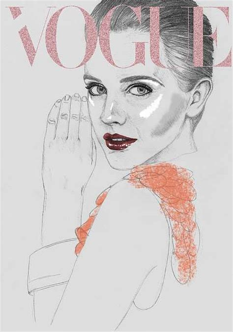 in vogue an illustrated illustrated vogue covers hazel castle