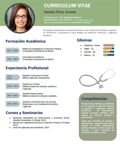 Modelo Curriculum Vitae Medico En Ingles Modelo De Curriculum Vitae Medico Modelo De Curriculum Vitae