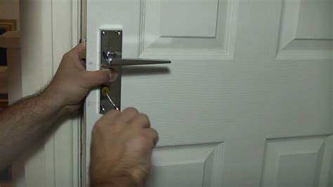 putting a lock on a bedroom door how to fit door handles ultimate handyman diy tips youtube