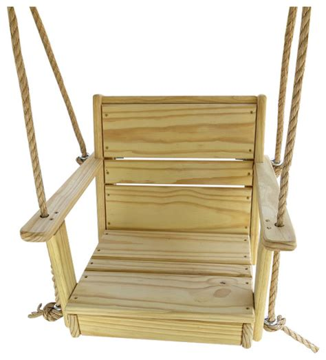 swing chair wooden adult wood chair swing with rope beach style porch