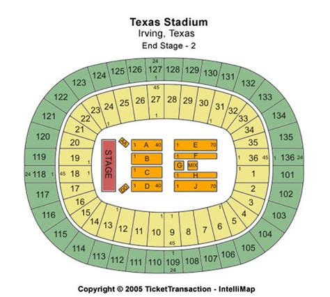 texas stadium map texas stadium tickets in irving texas texas stadium seating charts events and schedule