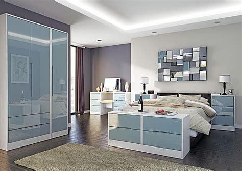 Bedroom Furniture Grey Gloss Monaco Grey Gloss Bedroom Range 14 Colour Combinations