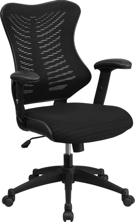 High Back Designer Chairs by High Back Black Designer Mesh Executive Swivel Office