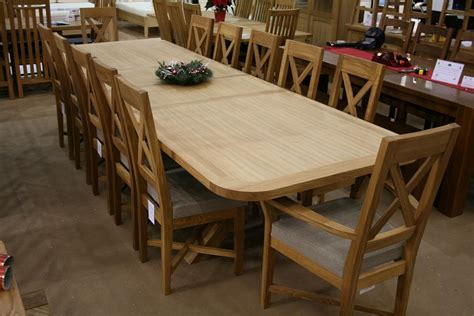 Oak Dining Suite Table Four Large Dining Room Table And Chairs