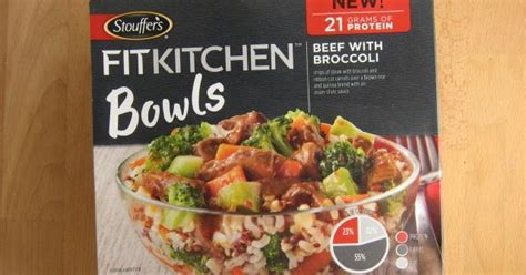 Fit Kitchen Bowls Stouffers Review Stouffer S Fit Kitchen Beef With Broccoli Bowl