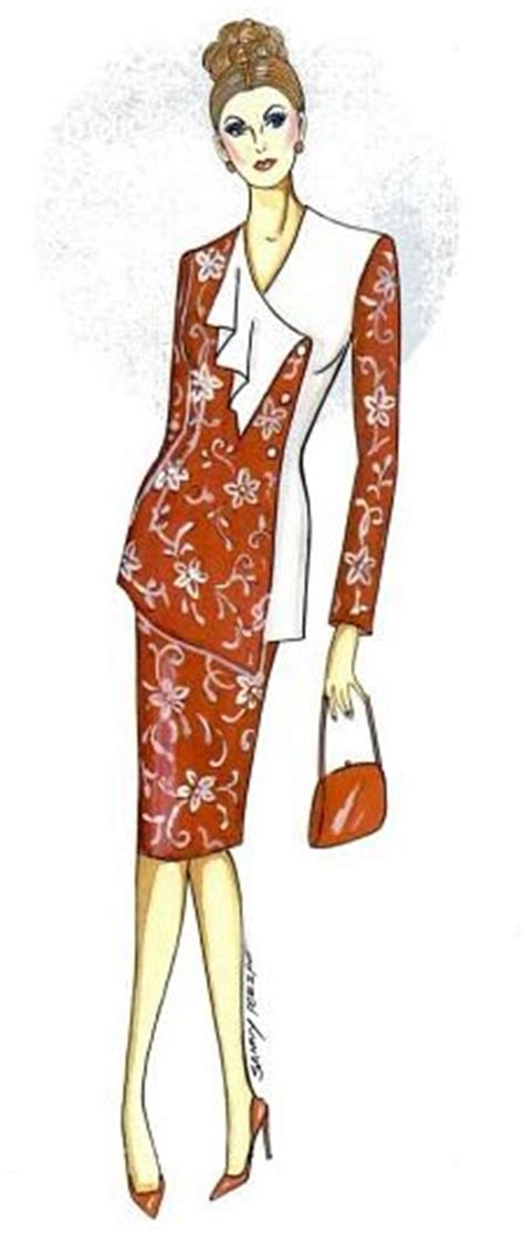 Blus Asimetris Batik arisanti macam macam model baju kerja wanita