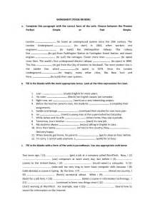 tense review worksheet simple past present perfect past