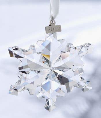 2007 swarovski crystal christmas snowflake star annual ornament swarovski 2012 annual edition snowflake ornament home kitchen