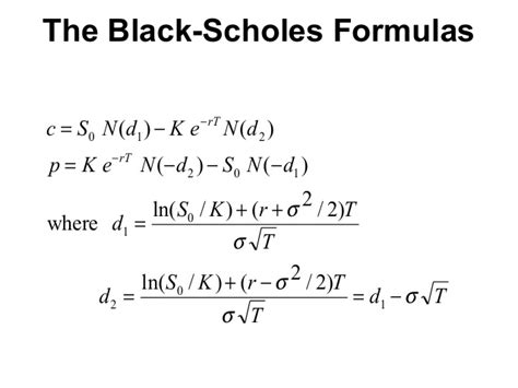 black scholes pricing model black scholes venu