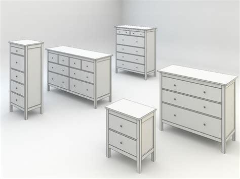 ikea model bedrooms hemnes bedroom drawers chests 3d model