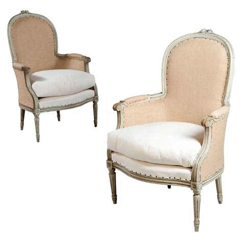 bergere armchairs a fine pair of french neoclassical bergere armchairs at