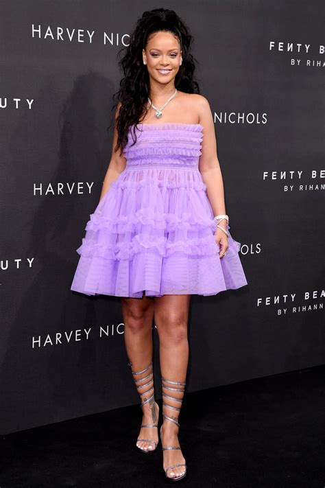 Dress Rihanna rihanna looks like a modern day princess in a purple tulle