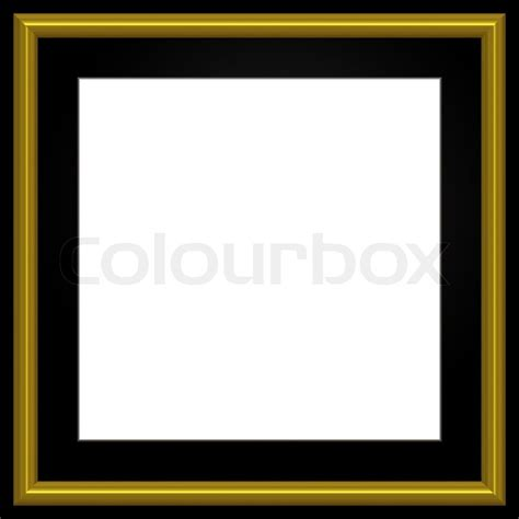 Frame Square Black gold and black square photo frame and white copyspace stock photo colourbox