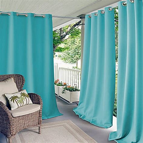 bed bath and beyond outdoor curtains elrene connor indoor outdoor grommet top window curtain
