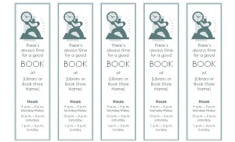 Bookmark Template Bookmark Template For Word Microsoft Word Bookmark Template