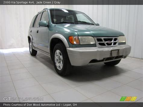 Kia Sportage 2000 4x4 Jade Green 2000 Kia Sportage 4x4 Gray Interior
