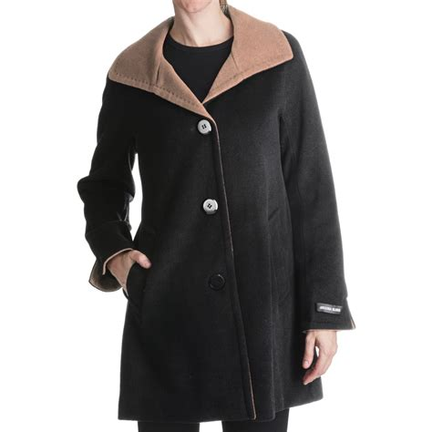 Ellen Tracy Outerwear Swing Coat Wool Blend For Women