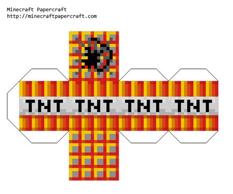 minecraft tnt block template papercraft blaze tnt