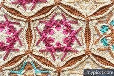 crochet stained glass afghans images