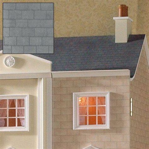 dolls house roof paper the dolls house emporium grey slate roof paper