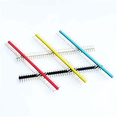 Pin Header Single Row 1x40 2 54mm Black Hitam 10pcs lot 2 54mm black white yellow blue