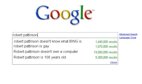 Meme Search Engine - robert pattinson quot what is bing quot meme of the day fooyoh