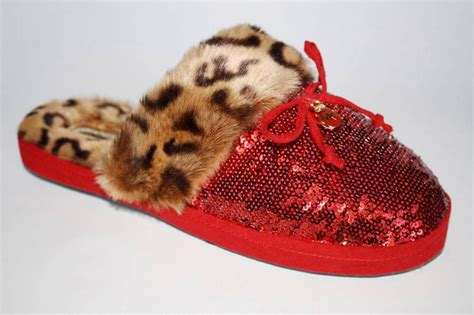 womens shoes michael kors zayden slipper leopard faux fur