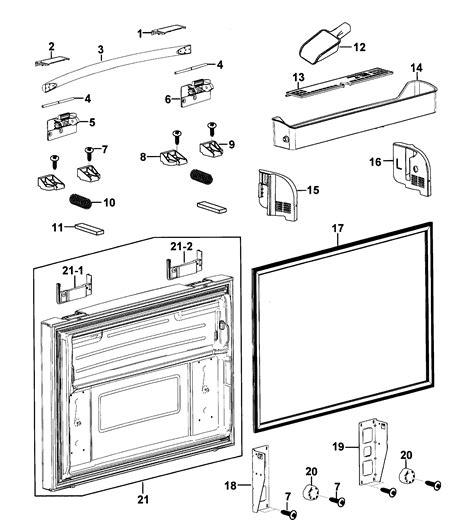 samsung refrigerator maker parts diagram freezer door diagram parts list for model