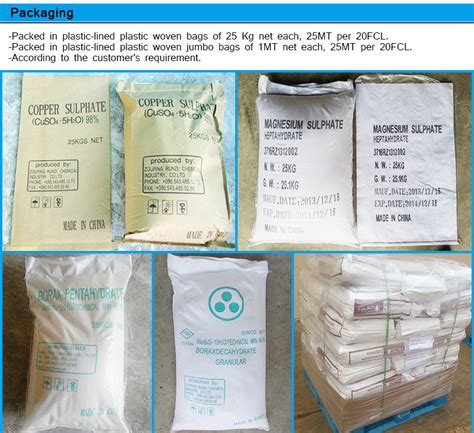 water treatment use dried ferrous sulphate