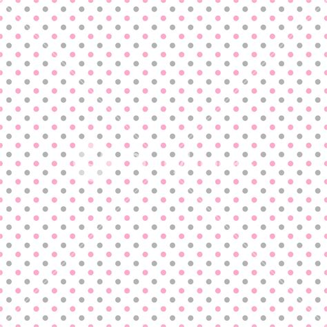 Polka Dot Pattern Pink Grey | pink and grey polka dots pattern on a white background
