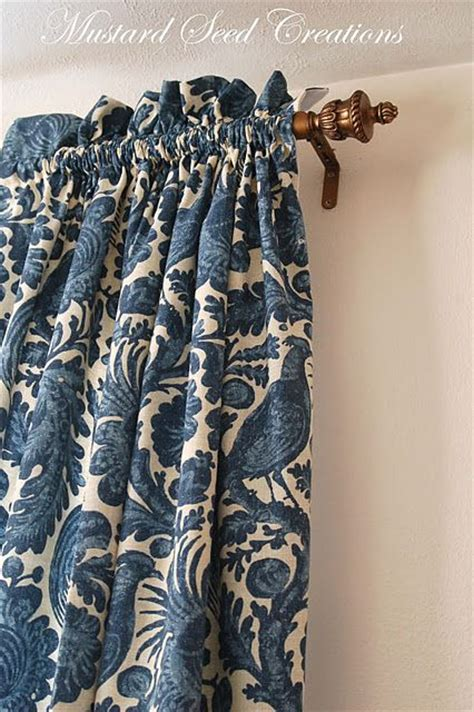 curtain sewing tutorial fabrics curtain tutorial and ruffles on pinterest