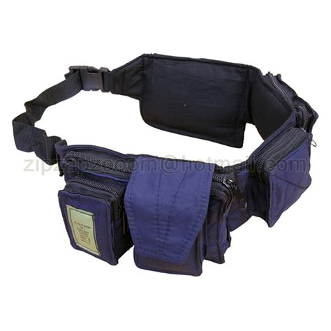Waist Bag Neverends Blue Army travel adventure utility waist bum bag pack day army money