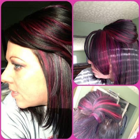 pravana hair cuts pravana wild orchid and violet pink hair purple hair