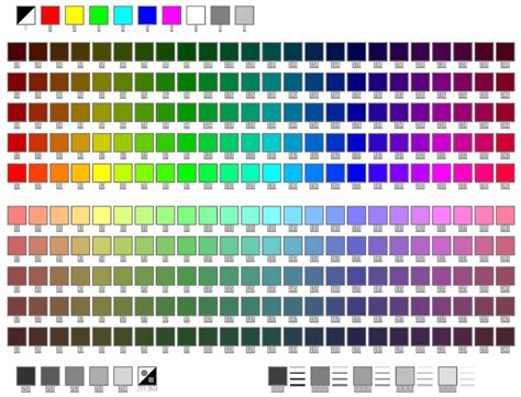rgb color table screen menus autocad color table davidg s peer