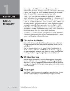 teaching a biography lesson plan a wizard of earthsea biography lesson plan for 7th 12th