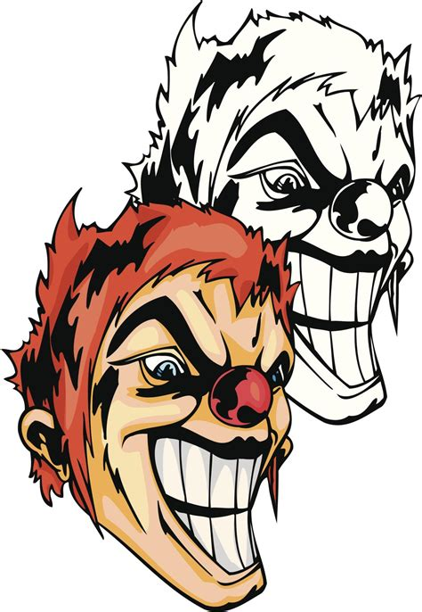 clowns tattoos learn all about evil clown tattoos that show the side