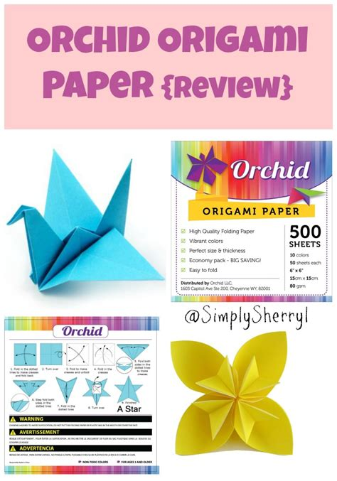 Origami Paper Review - orchid origami paper review simply sherryl