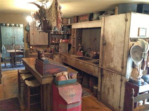 494 Best Primitive Kitchen Images On Pinterest Country Primitive Kitchen Designs