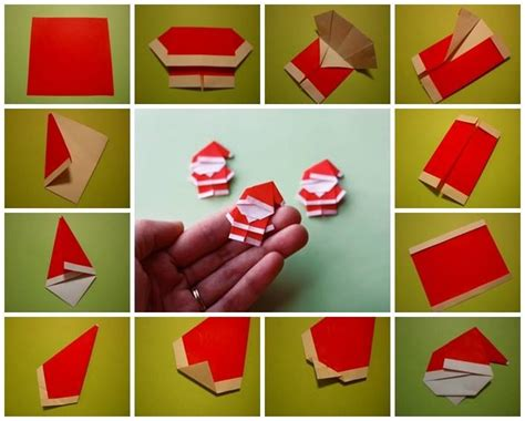 How To Make Paper Santa Claus - santa claus origami random cool