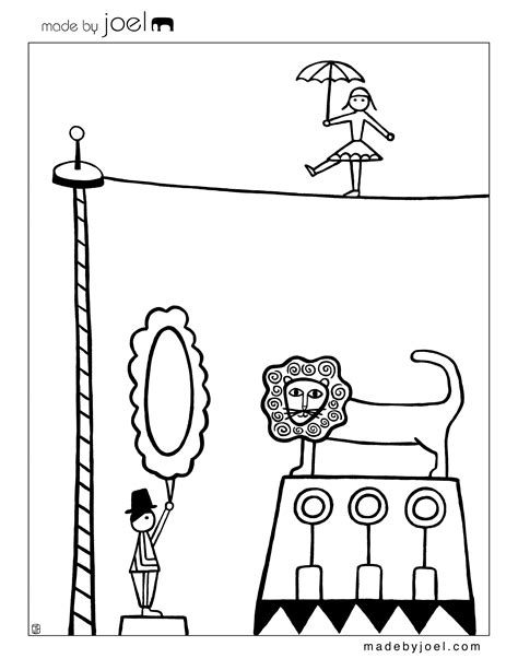 free coloring pages of circus train 2